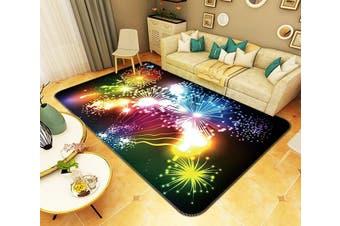 "3D Bright Fireworks 144 Non Slip Rug Mat, 80cmx120cm (31.4""x47.24"")"