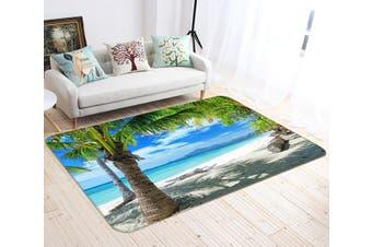 "3D Tropical Beach Scenery 142 Non Slip Rug Mat, 140cmx200cm (55.1""x78.8"")"