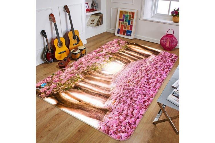 "3D Cherry Blossom Avenue 139 Non Slip Rug Mat, 60cmx90cm (23.6""x35.4"")"