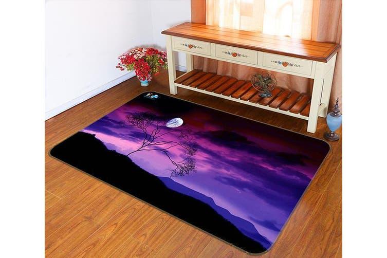 "3D Purple Sky Bright Moon 133 Non Slip Rug Mat, 40cmx60cm (15.7""x23.6"")"