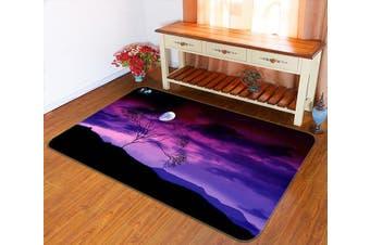 "3D Purple Sky Bright Moon 133 Non Slip Rug Mat, 60cmx90cm (23.6""x35.4"")"