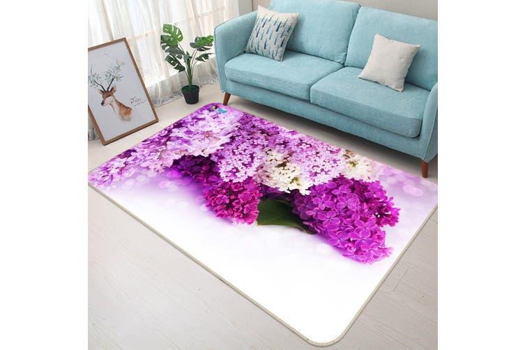 """3D Violet Flowers 134 Non Slip Rug Mat, 40cmx60cm (15.7""""x23.6"""")"""