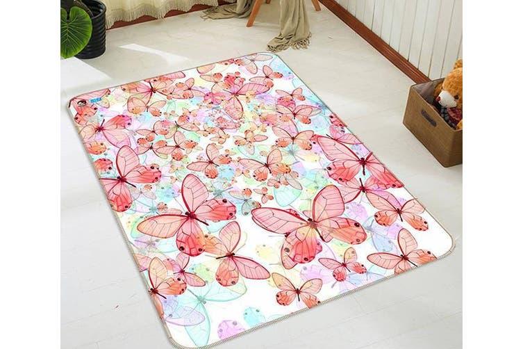 """3D Pretty Butterflies 222 Non Slip Rug Mat, 40cmx60cm (15.7""""x23.6"""")"""