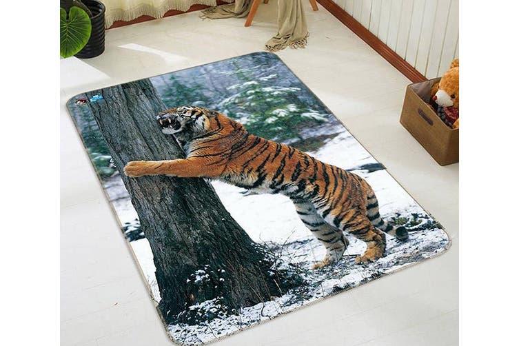 "3D Forest Funny Tiger 220 Non Slip Rug Mat, 40cmx60cm (15.7""x23.6"")"