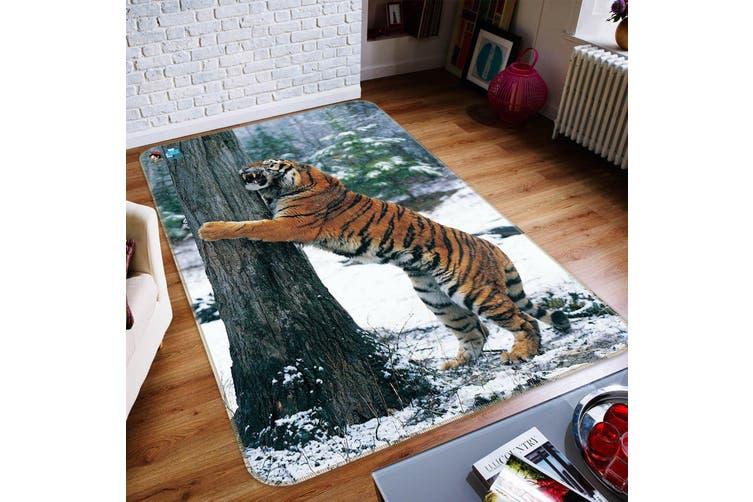 "3D Forest Funny Tiger 220 Non Slip Rug Mat, 60cmx90cm (23.6""x35.4"")"