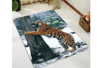 "3D Forest Funny Tiger 220 Non Slip Rug Mat, 120cmx180cm (47.2""x70.9"")"