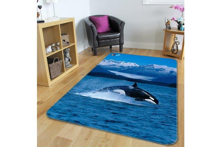 """3D Mountain Sea Dolphin 219 Non Slip Rug Mat, 60cmx90cm (23.6""""x35.4"""")"""