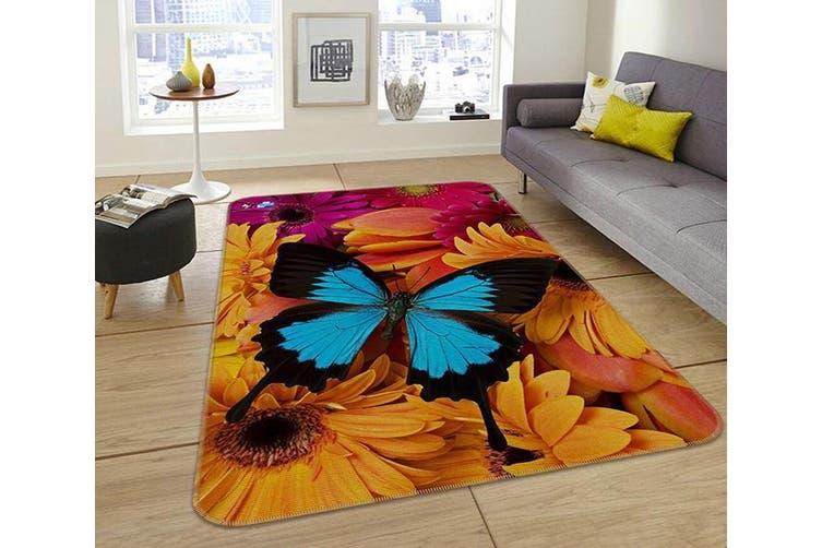 """3D Flowers Butterfly 216 Non Slip Rug Mat, 40cmx60cm (15.7""""x23.6"""")"""