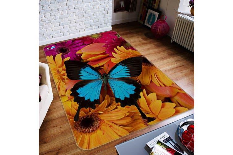 """3D Flowers Butterfly 216 Non Slip Rug Mat, 60cmx90cm (23.6""""x35.4"""")"""