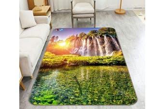 "3D Lake Waterfalls 213 Non Slip Rug Mat, 60cmx90cm (23.6""x35.4"")"