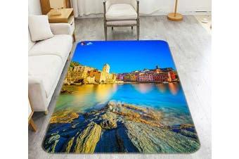"""3D Pretty Seaside Town 212 Non Slip Rug Mat, 80cmx120cm (31.4""""x47.24"""")"""