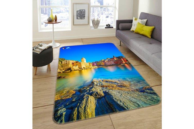 """3D Pretty Seaside Town 212 Non Slip Rug Mat, 140cmx200cm (55.1""""x78.8"""")"""