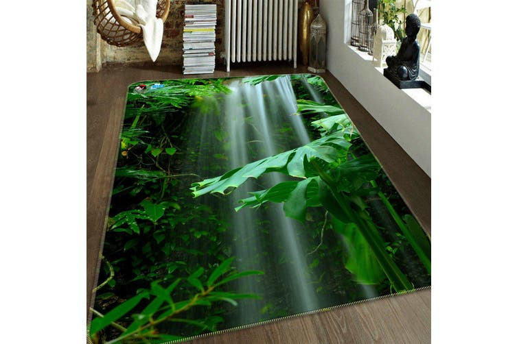 "3D Waterfall Green Plants 211 Non Slip Rug Mat, 40cmx60cm (15.7""x23.6"")"