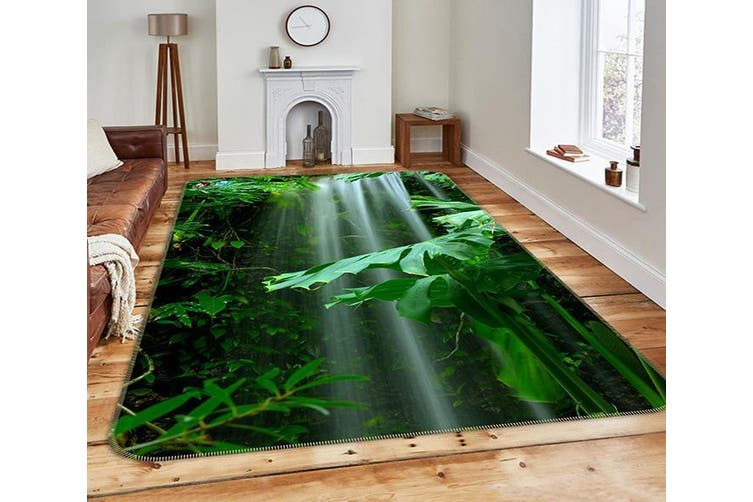 "3D Waterfall Green Plants 211 Non Slip Rug Mat, 120cmx180cm (47.2""x70.9"")"