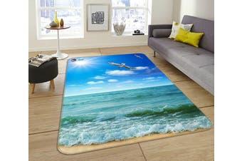 "3D Blue Sea Seagulls 191 Non Slip Rug Mat, 60cmx90cm (23.6""x35.4"")"