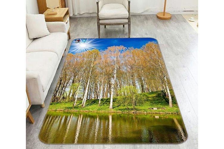 """3D Lakeside Forest 189 Non Slip Rug Mat, 80cmx120cm (31.4""""x47.24"""")"""