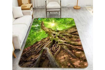 "3D Tree Roots 190 Non Slip Rug Mat, 80cmx120cm (31.4""x47.24"")"