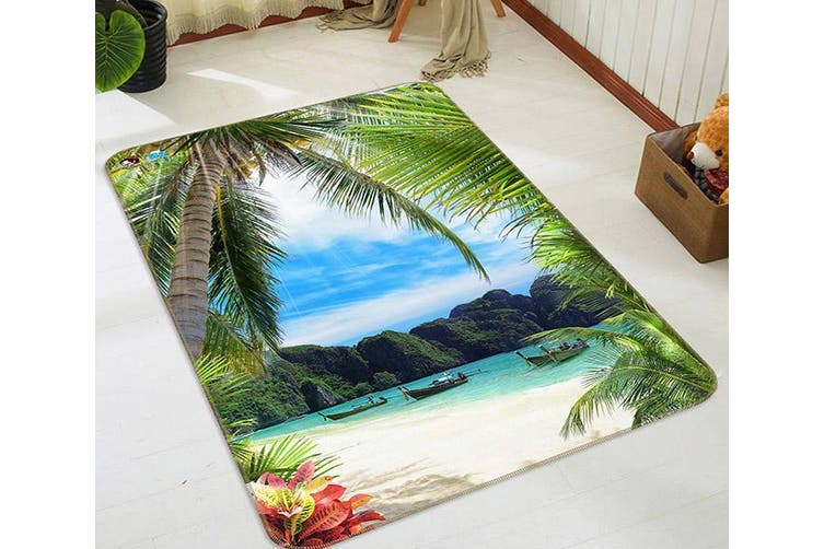"3D Tropical Sea Bay 187 Non Slip Rug Mat, 140cmx200cm (55.1""x78.8"")"