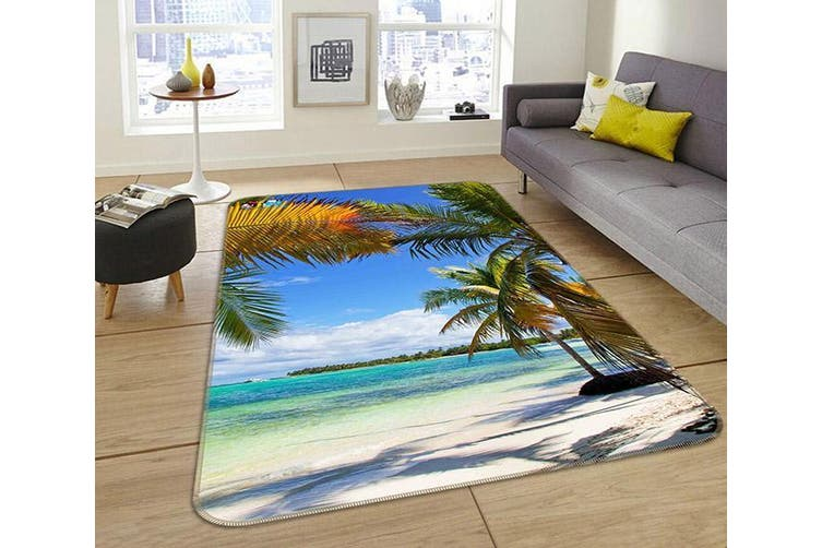 "3D Tropical Beach Scenery 188 Non Slip Rug Mat, 120cmx180cm (47.2""x70.9"")"