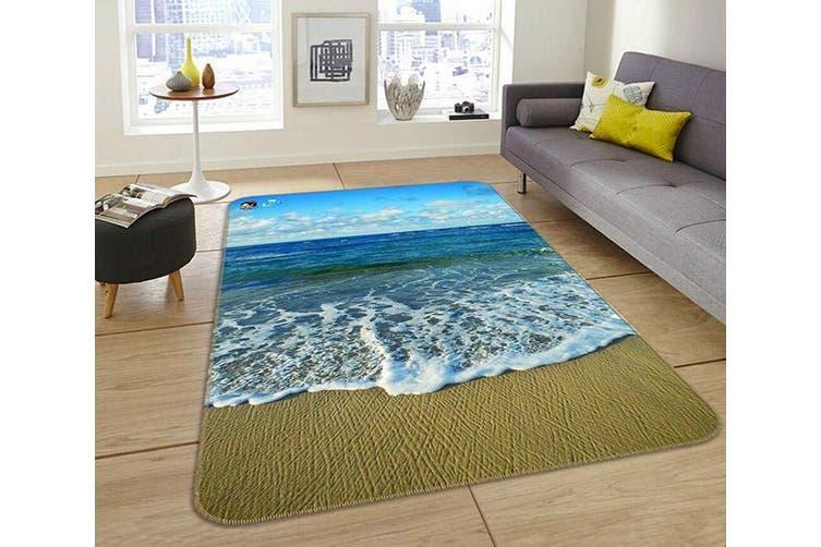 """3D Vast Blue Sea 185 Non Slip Rug Mat, 160cmx240cm (63""""x94.5"""")"""