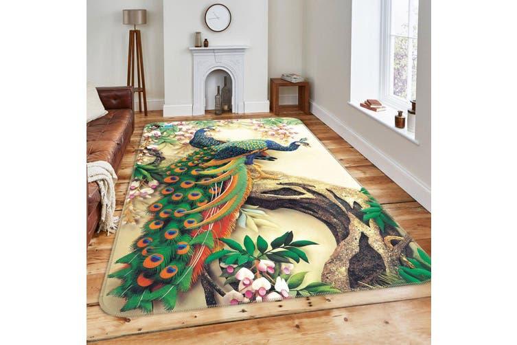 """3D Flowers Tree Peacocks 186 Non Slip Rug Mat, 40cmx60cm (15.7""""x23.6"""")"""