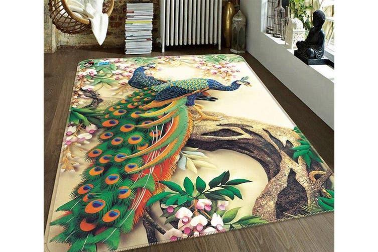 """3D Flowers Tree Peacocks 186 Non Slip Rug Mat, 80cmx120cm (31.4""""x47.24"""")"""
