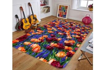 "3D Bright Flowers 183 Non Slip Rug Mat, 120cmx180cm (47.2""x70.9"")"