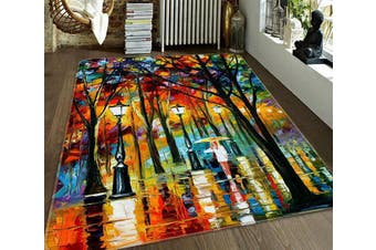 """3D Street Oil Painting 184 Non Slip Rug Mat, 120cmx180cm (47.2""""x70.9"""")"""