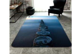 "3D Sea Wood Road 182 Non Slip Rug Mat, 140cmx200cm (55.1""x78.8"")"