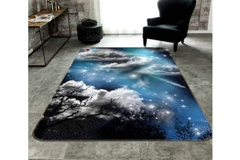 "3D Stars Sky Clouds 179 Non Slip Rug Mat, 140cmx200cm (55.1""x78.8"")"