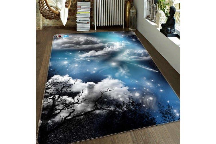 "3D Stars Sky Clouds 179 Non Slip Rug Mat, 160cmx240cm (63""x94.5"")"