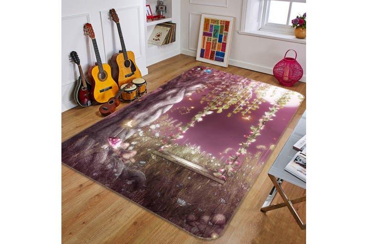 """3D Flowers Tree Swing 178 Non Slip Rug Mat, 60cmx90cm (23.6""""x35.4"""")"""
