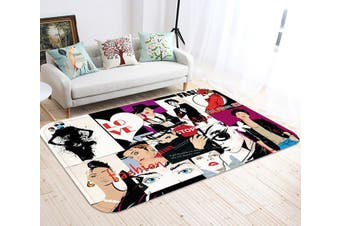 "3D Fashion Girl Poster 84 Non Slip Rug Mat, 40cmx60cm (15.7""x23.6"")"