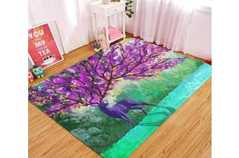 "3D Deer Flowering Tree 80 Non Slip Rug Mat, 60cmx90cm (23.6""x35.4"")"