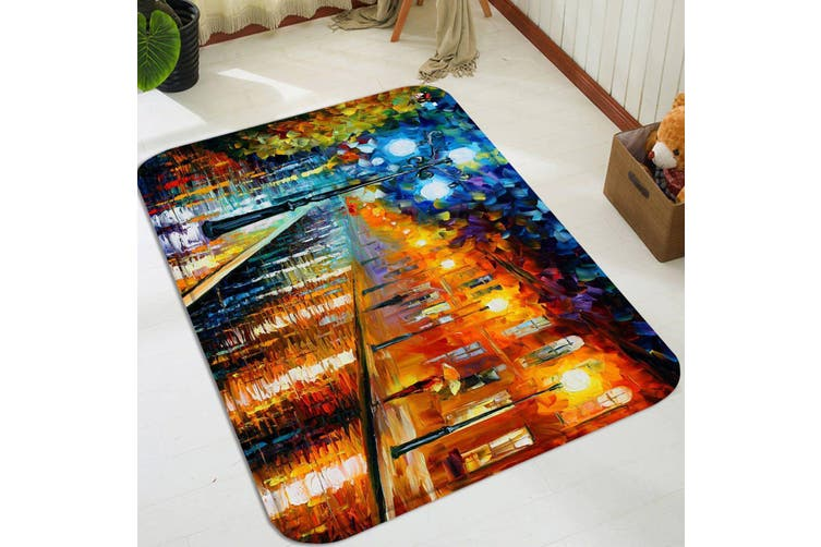 """3D Street Oil Painting 75 Non Slip Rug Mat, 60cmx90cm (23.6""""x35.4"""")"""