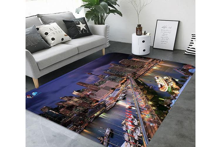 "3D City Scenery 73 Non Slip Rug Mat, 140cmx200cm (55.1""x78.8"")"