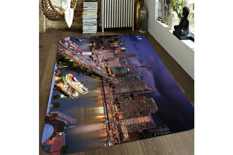"3D City Scenery 73 Non Slip Rug Mat, 160cmx240cm (63""x94.5"")"