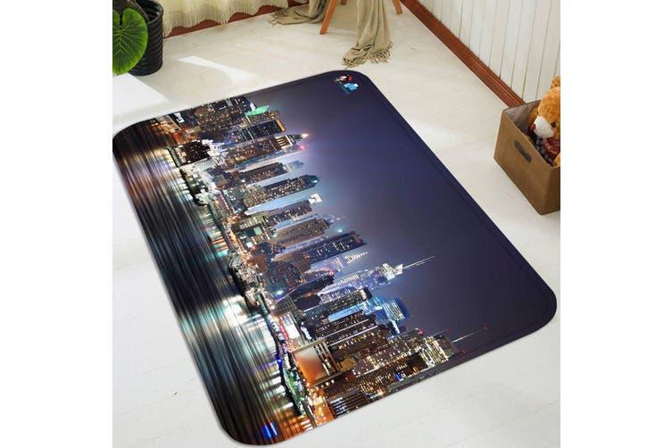 "3D New York Night View 72 Non Slip Rug Mat, 40cmx60cm (15.7""x23.6"")"