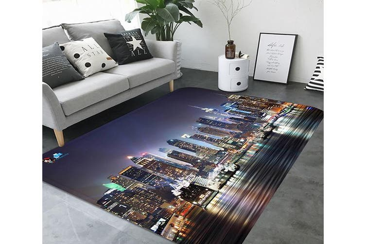 "3D New York Night View 72 Non Slip Rug Mat, 60cmx90cm (23.6""x35.4"")"