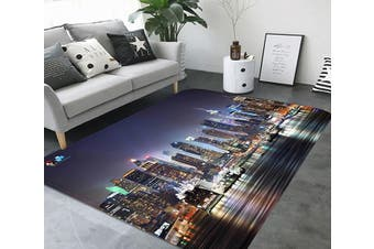 "3D New York Night View 72 Non Slip Rug Mat, 120cmx180cm (47.2""x70.9"")"