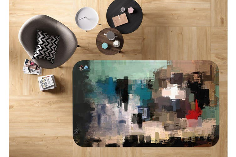 "3D Abstract Oil Painting 70 Non Slip Rug Mat, 140cmx200cm (55.1""x78.8"")"