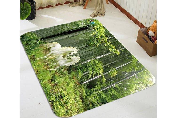 "3D Forest Unicorns 61 Non Slip Rug Mat, 160cmx240cm (63""x94.5"")"