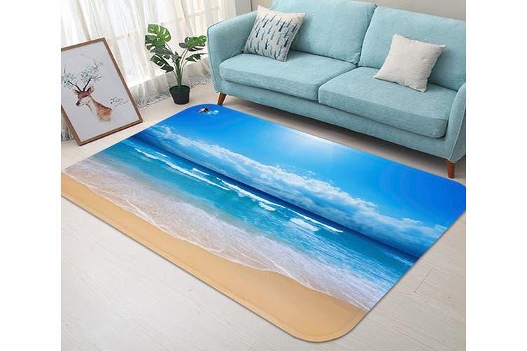 """3D Vast Blue Sea 58 Non Slip Rug Mat, 140cmx200cm (55.1""""x78.8"""")"""
