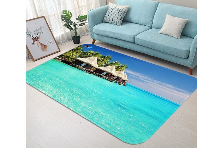 """3D Seaside Pavilions 57 Non Slip Rug Mat, 40cmx60cm (15.7""""x23.6"""")"""