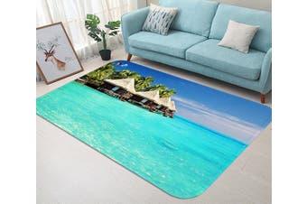 """3D Seaside Pavilions 57 Non Slip Rug Mat, 60cmx90cm (23.6""""x35.4"""")"""