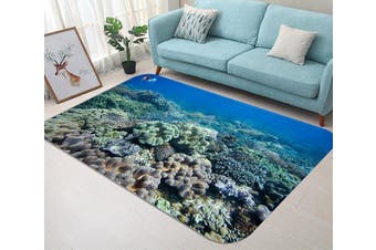 "3D Seabed Corals 54 Non Slip Rug Mat, 160cmx240cm (63""x94.5"")"