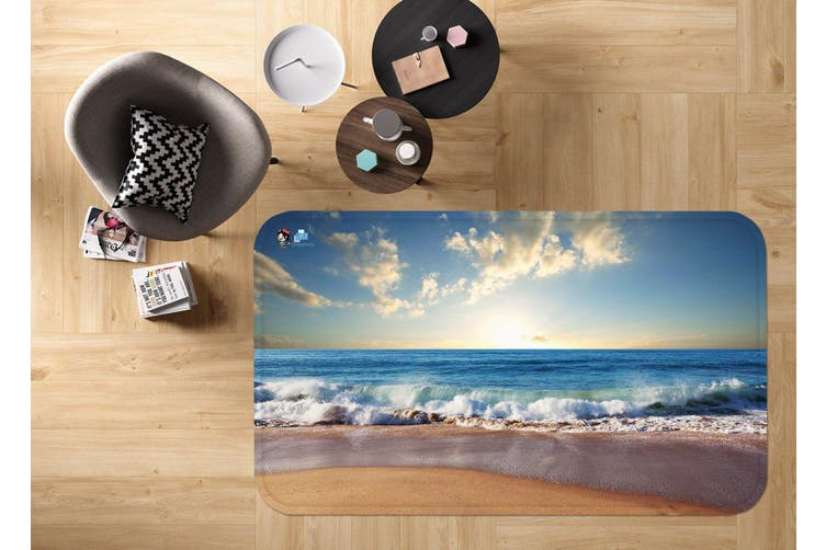 "3D Beach Sunset Scenery 52 Non Slip Rug Mat, 40cmx60cm (15.7""x23.6"")"