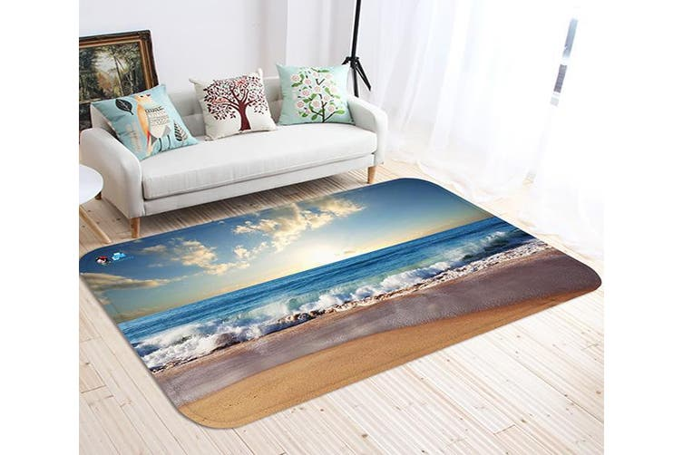 "3D Beach Sunset Scenery 52 Non Slip Rug Mat, 160cmx240cm (63""x94.5"")"