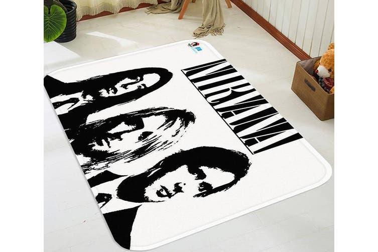 "3D Nirvana Band 50 Non Slip Rug Mat, 40cmx60cm (15.7""x23.6"")"