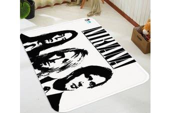 "3D Nirvana Band 50 Non Slip Rug Mat, 80cmx120cm (31.4""x47.24"")"